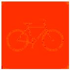 fiets-icoon-rood